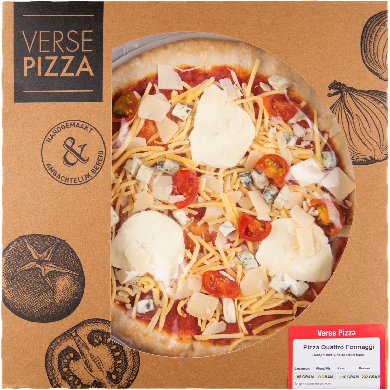 Verse pizza quattro formaggi
