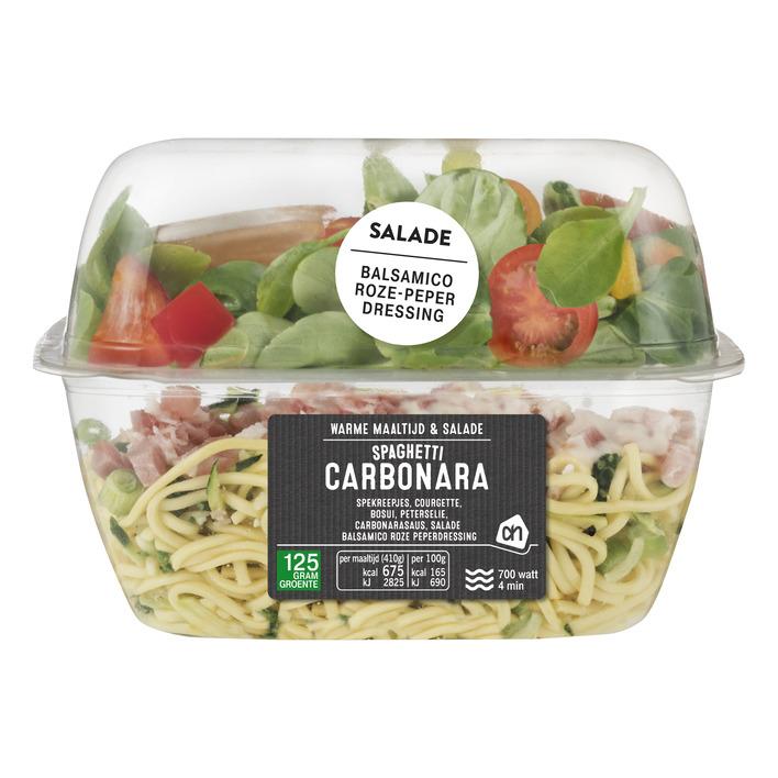 Huismerk Maaltijd & salade spaghetti carbonara