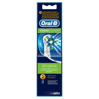 Oral-B CrossAction Vervangende Borstelkoppen 2 keer