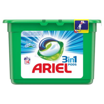 Ariel Pods 3 in 1 alpine 14 stuks