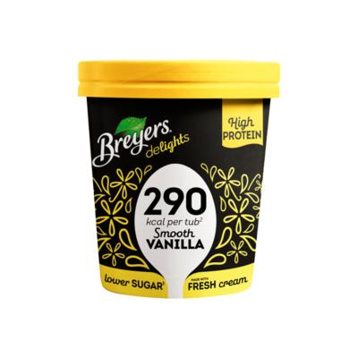 Breyers Lower Calorie & High Protein Ice Cream Smooth Vanilla