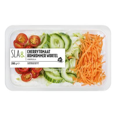 Huismerk Sla cherrytomaat komkommer & wortel