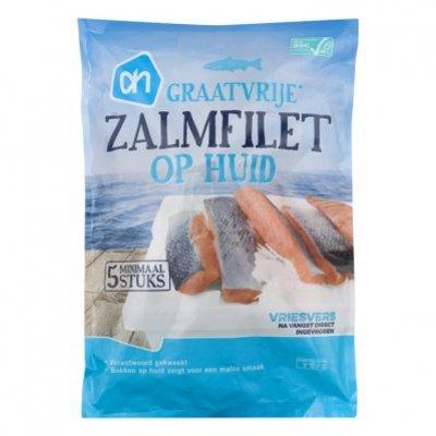 Huismerk Zalmfilet op huid
