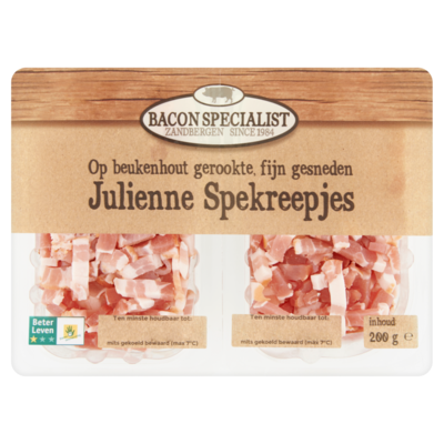 Bacon specialist Julienne spekreepjes