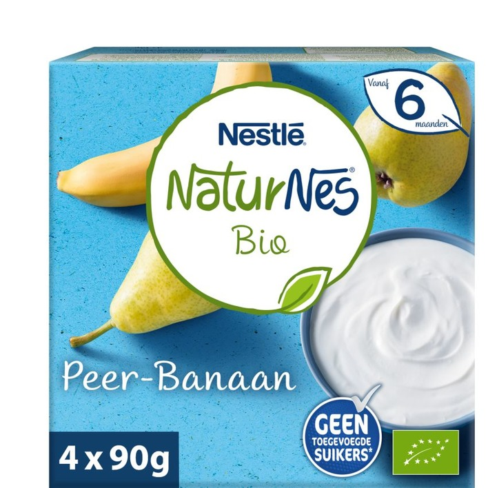 Nestlé Naturnes bio peer-banaan