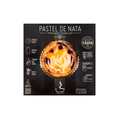 Nata Pura Pastel de Nata Original Flavour 4 Stuks
