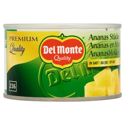 Del Monte Ananasblokjes op Sap 230 g