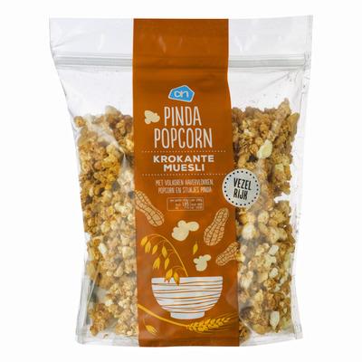 Huismerk Krokante muesli popcorn pinda