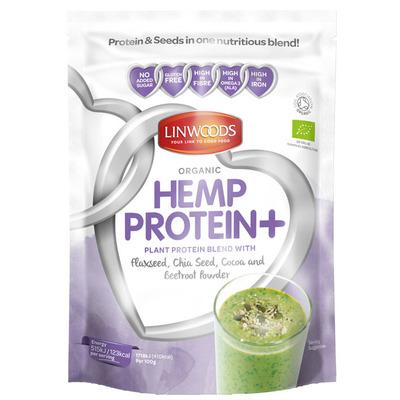 Linwoods Hennep proteïne met rode biet poeder