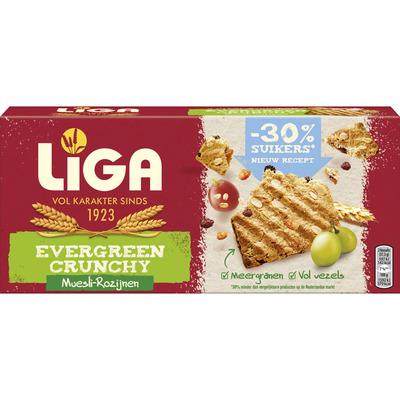 Liga Evergreen crunchy muesli rozijn