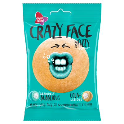 Red Band Crazy Face Fizzy 80 g