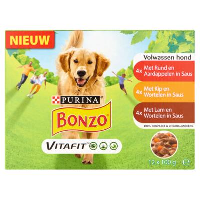 Bonzo Maaltijdzakjes lam, wortel
