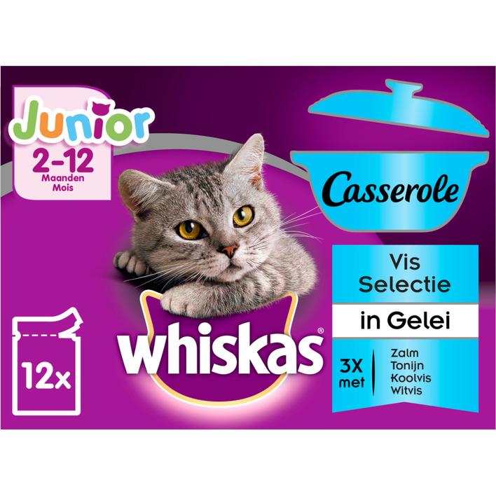 Whiskas Kattenvoer nat selectie in gelei kitten