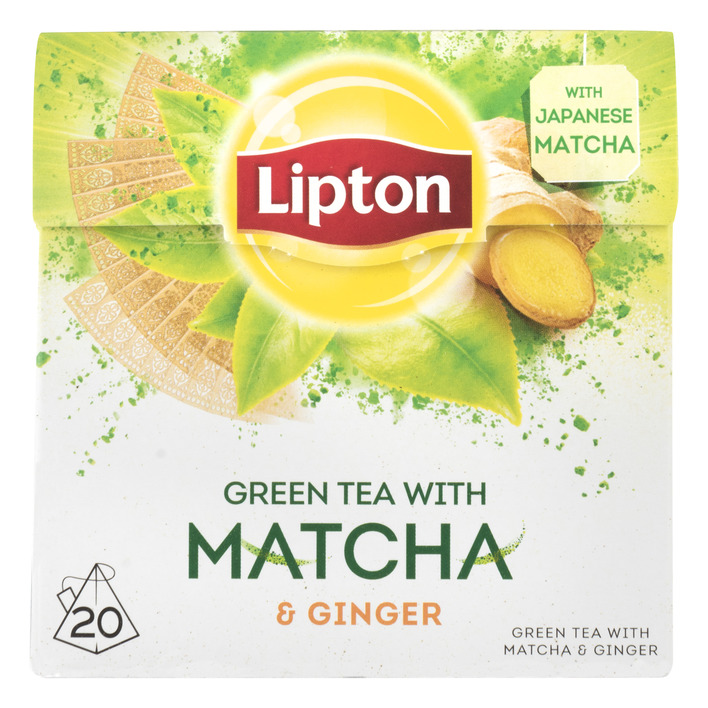 Lipton Green matcha met ginger thee