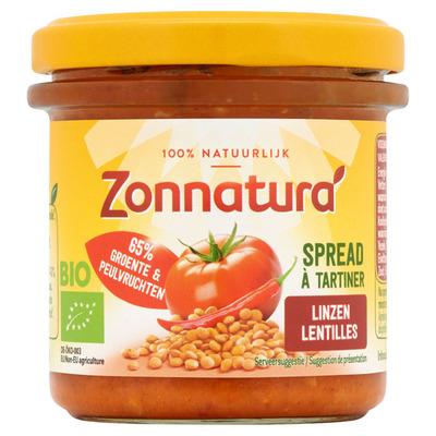 Zonnatura Groentespread linzen tomaat chili
