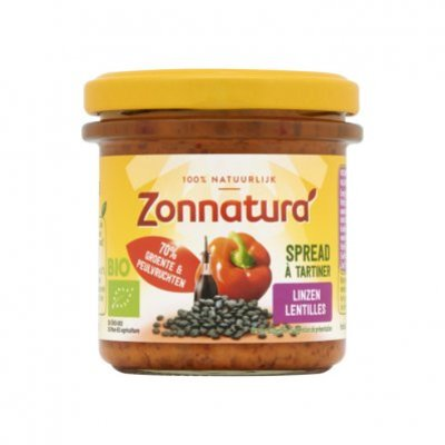 Zonnatura Groentespread linzen paprika balsamico