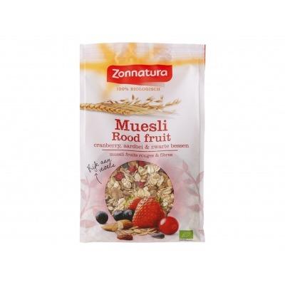 Zonnatura Muesli fruit cranberry aardbei & zwarte bessen