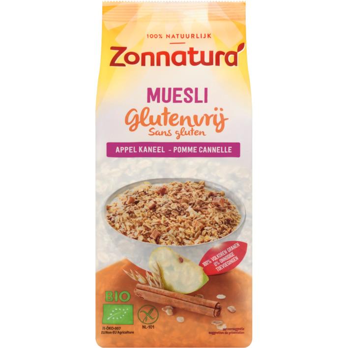 Zonnatura Glutenvr muesli appel/kaneel