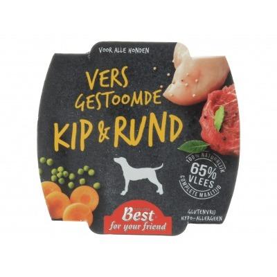 Best for your friend Vers gestoomde kip & rund voor hond