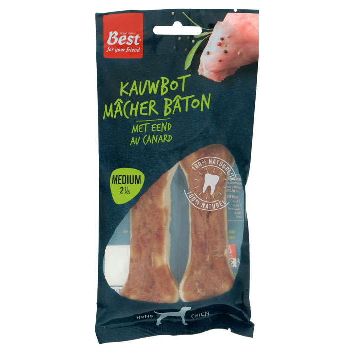 Best for your Friend Kauwkluiven eend medium