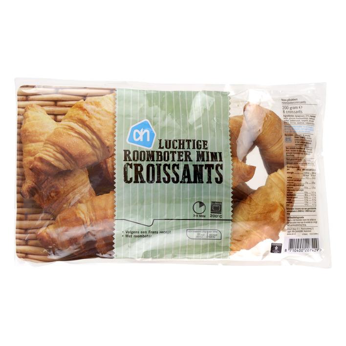 Huismerk Luchtige roomboter mini croissants