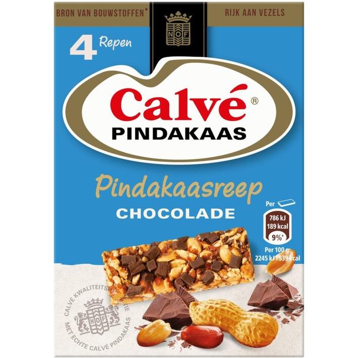 Calvé Pindakaasreep chocolade