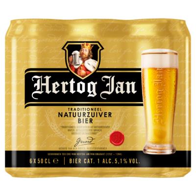 Hertog Jan Traditioneel Natuurzuiver Bier Blikken 6 x 50 cl