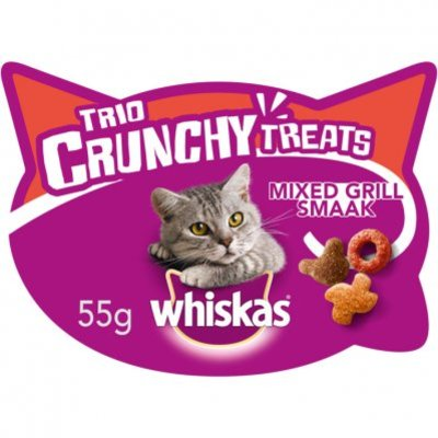 Whiskas Kattensnacks trio crunchy mixed grill