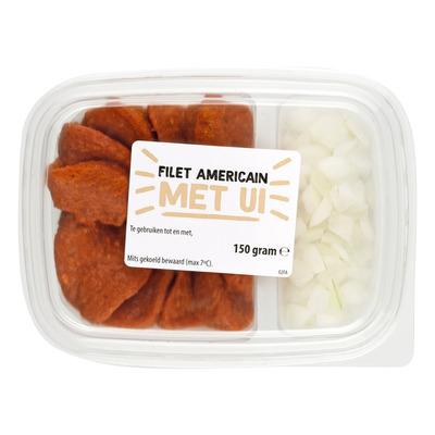 Filet Americain met ui