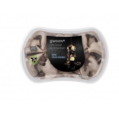 Huismerk Slagroomijs duo chocolade