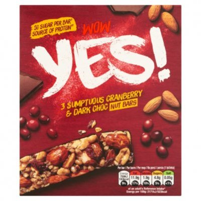 Yes Notenreep cranberry & chocolade 3pack
