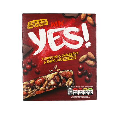 Yes Pure chocola & cranberry notenreep 3pack