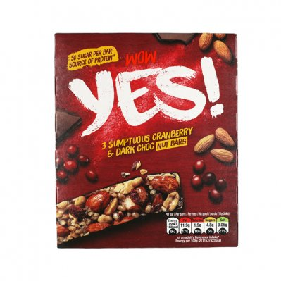 Yes Pure chocola & cranberry notenreep 3pack