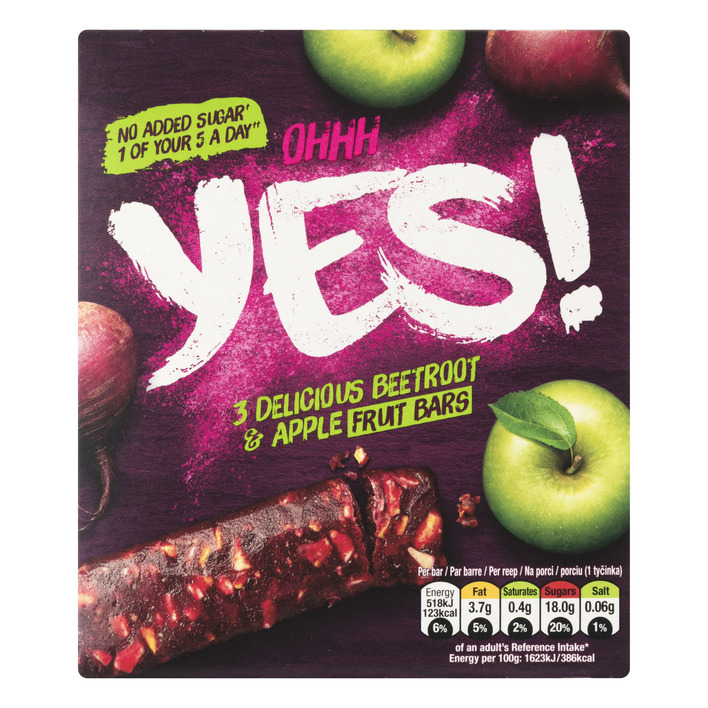 Yes Rode biet & appel fruitreep 3pack