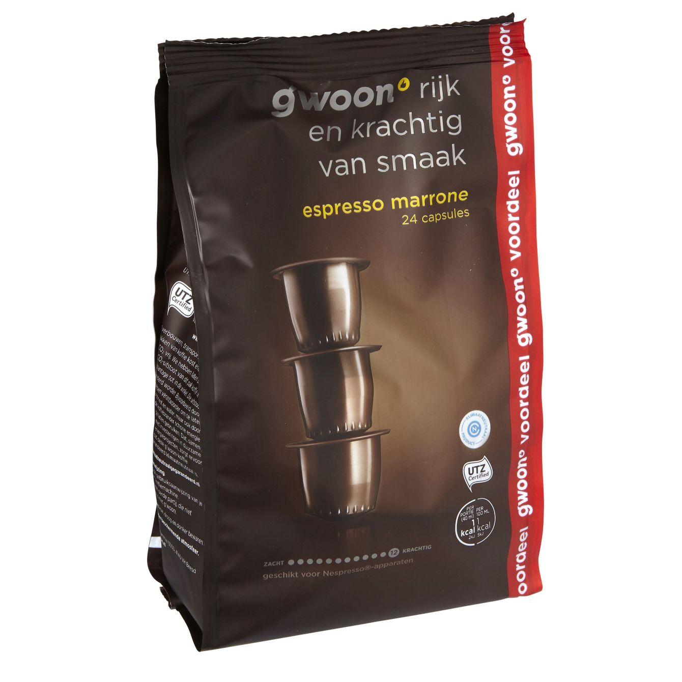 G'woon Espresso Marrone Koffie Capsules