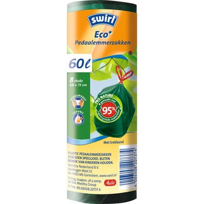 Swirl Afvalzak Eco Trekband 60 Liter
