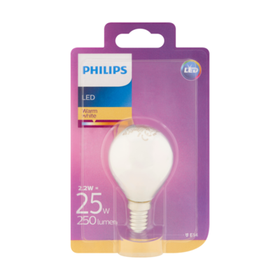 Philips LED Warm White 2.2W E