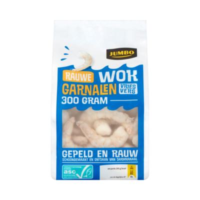 Huismerk Rauwe Wok Garnalen Vriesvers