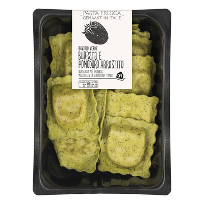 Huismerk Pasta fresca ravioli burata pomodoro