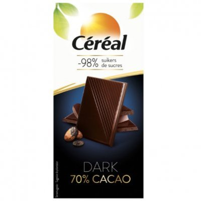 Cereal Chocolade tablet 70%
