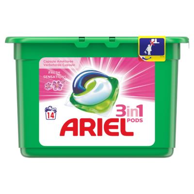 Ariel 3in1 Pods Sensation Pink Wasmiddelcapsules 14x