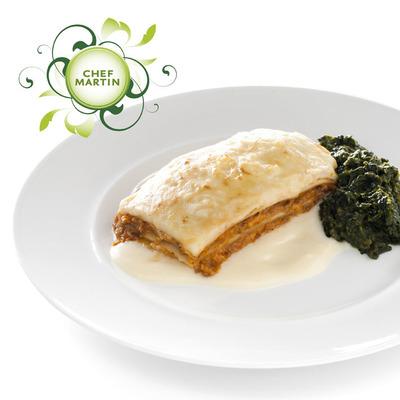 Chef Martin Lasagne met spinazie a la crème