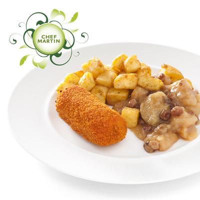 Chef Martin Rundvleeskroket met appelcomp geb aardap