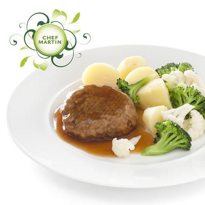 Chef Martin Gehaktbal in jus broc-bloemkool aardap