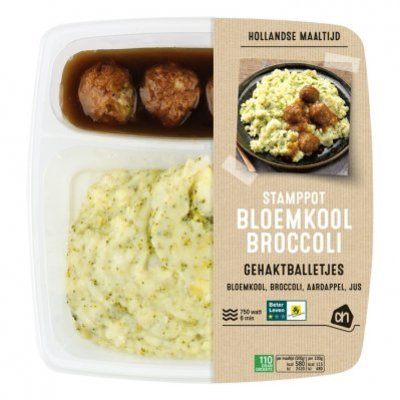 Huismerk Hollandse stamppot bloemkool-broccoli
