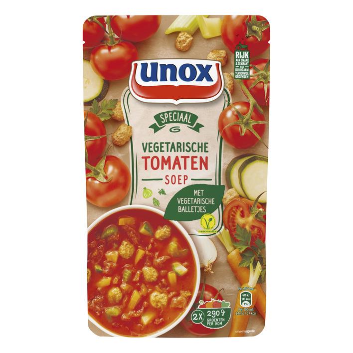 Unox Tomatensoep met vega ballen