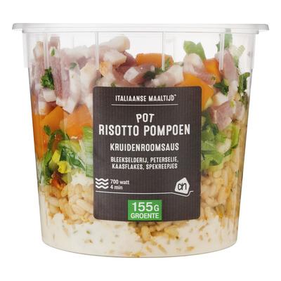 Huismerk Pot pompoen risotto
