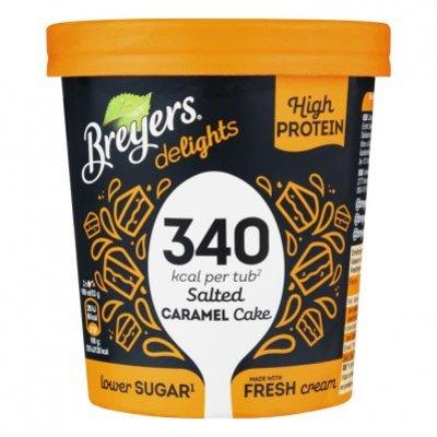 Breyers Salted caramel proteine ijs low calorie