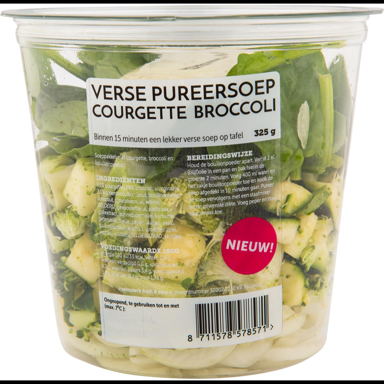 Fresh & easy Pureersoep courgette broccoli
