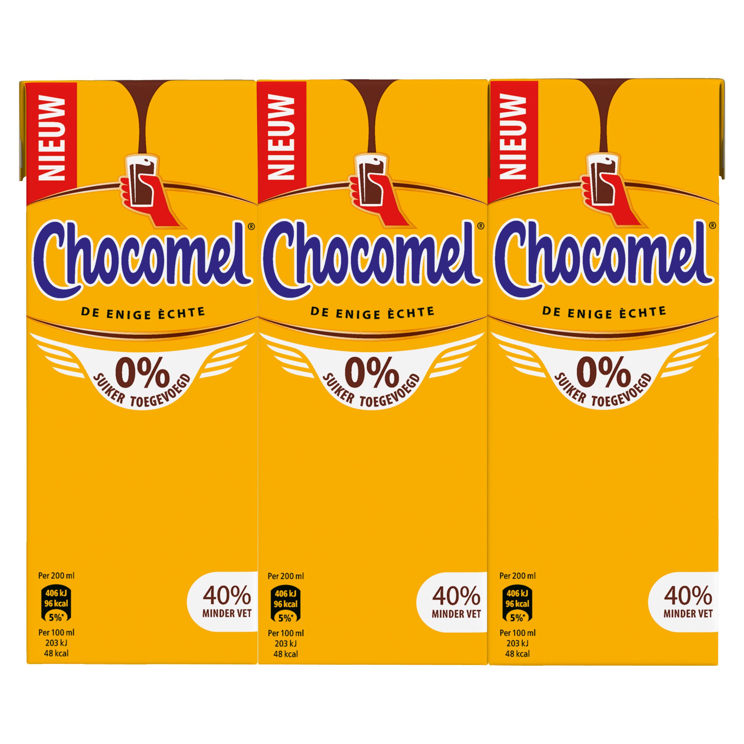 Chocomel 0% Suiker Toegevoegd Multipack 6 x 200 ml